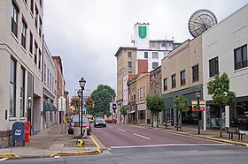 Main Street, dans le centre-ville de Beckley.