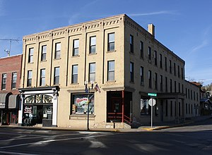 National Register of Historic Places listings in Green Lake County, Wisconsin - Image: Beckwith House Hotel Berlin Wisconsin WIS49