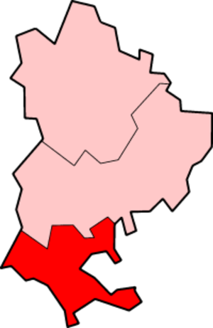 South Bedfordshire - South Bedfordshire within non-metropolitan Bedfordshire post 1998