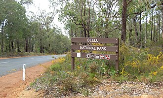 Beelu National Park - Image: Beelu National Park sign 2008
