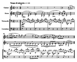 Symphony No. 8 (Beethoven) - Beethoven Symphony 8, 3rd movement (trio) bars 45–52