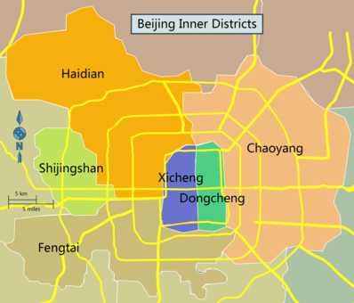 Central districts and inner suburbs