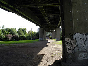 Boston Manor Park - The M4 cuts through the park