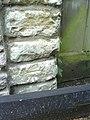 Benchmark beside redundant door of St Hugh's College - geograph.org.uk - 2016407.jpg