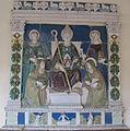 Benedetto buglioni (bottega), sant'anselmo in trionfo tra santi, da s. maria a ripa, 1510 ca..JPG