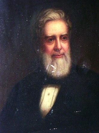 Benjamin Brandreth - Benjamin Brandreth portrait (oil on canvas) circa 1870
