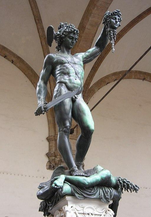 Benvenuto Cellini, Perseo con la testa di Medusa, c. 1554, Loggia dei Lanzi, Piazza della Signoria, Firenze