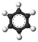 Ball and stick model of deuterated benzene
