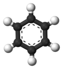 Benzene ball-and-stick model