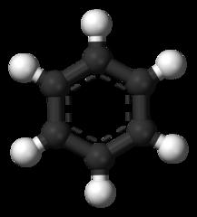 En modell av bensen.