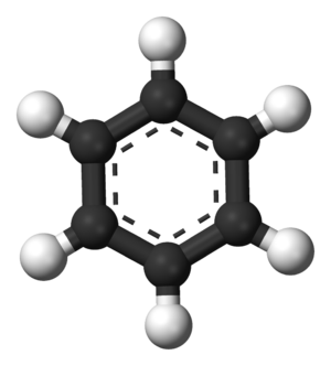 Deuterated benzene - Image: Benzene aromatic 3D balls