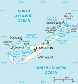 History Of Bermuda Wikipedia - Bermuda in relation to us map