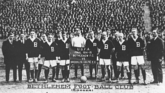 Bethlehem Steel F.C. (1907–30) - Bethlehem Steel before playing the final match of the 1914–15 season against Brooklyn Celtic.