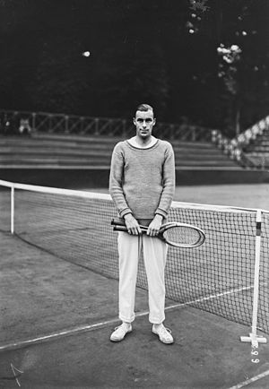 Bill Tilden - Bill Tilden at the 1921 World Hard Court Championships in Paris.