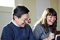 Bill and Jami in Wiki Ed team meeting, 2015-01-13.jpg