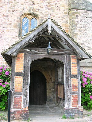 Church porch - Image: Billingshurst church porch