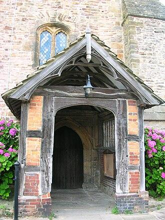 Church porch - Image: Billingshurst church porch