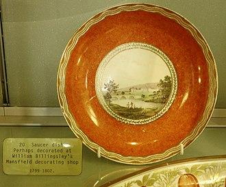William Billingsley (artist) - Plate perhaps painted at William Billingsley's decorative workshop in Mansfield