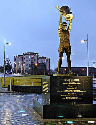 Billy McNeill - John McKenna's statue of McNeill outside Celtic Park