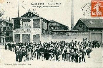La manufacture de pianos Pleyel a été fondée à Saint-Denis en 1807