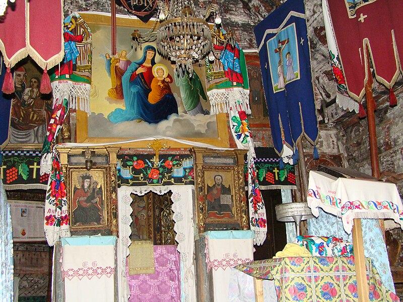 File:Biserica de lemn din Dobricu Lăpusului II-interioare 07.JPG