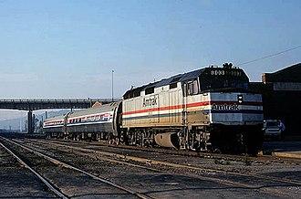 Black Hawk (Amtrak train) - The Black Hawk at Dubuque in 1981