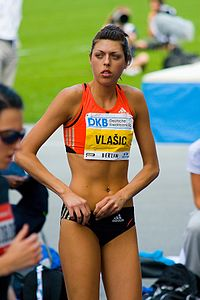 Blanka Vlašić beim Internationalen Stadionfest Berlin 2008