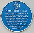Blue Plaque, White Cloth Hall, Crown Street, Leeds - geograph.org.uk - 1407069.jpg