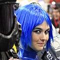 Blue hair Comicon 2009.jpg