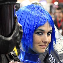 Blue hair Comicon 2009.jpg