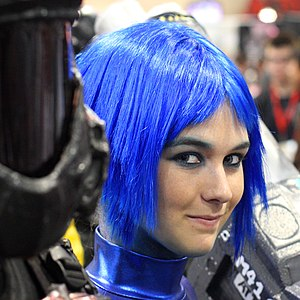 Blue hair - Image: Blue hair Comicon 2009