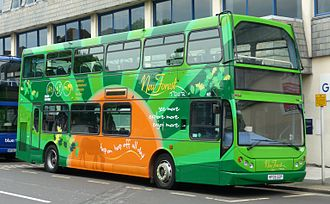 New Forest Tour - East Lancs Myllennium Vyking bodied Volvo B7TL in the current New Forest Tour livery in May 2009