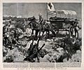 Boer War; collecting the wounded from the battlefield using Wellcome V0015522.jpg