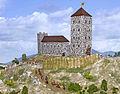 Boldogkő Castle - XIV century reconstructed model - Hungary.jpg