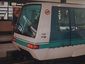 Bombardier CX-100 train at South View LRT Station, Singapore - 20041116.jpg