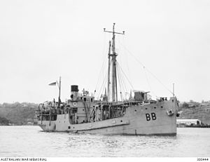 SS Bombo - HMAS Bombo as stores-carrier in Sydney during WW2