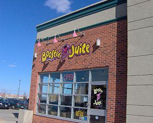 Booster Juice - A Booster Juice located in Ancaster, Ontario.
