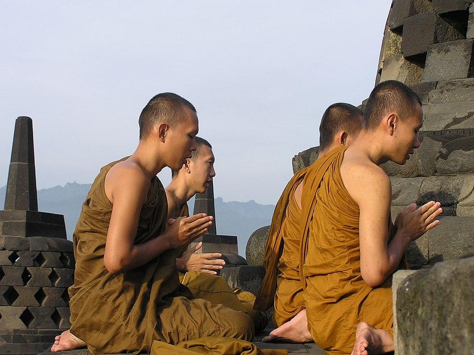 Borobudur monks 1