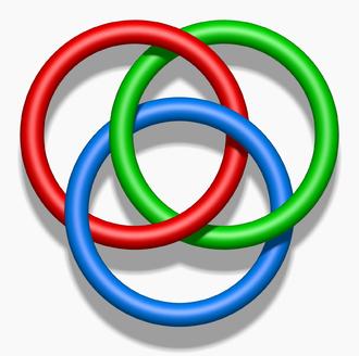 Hermann Brunn - The Borromean rings are the simplest Brunnian link.
