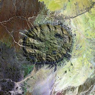Monolith - Landsat 7 image Brandberg Mountain, Namibia