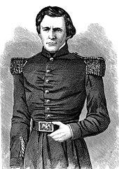 Incisione del giovane Grant in uniforme