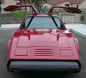 Gull-wing door - A Bricklin SV-1 with its doors open
