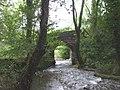Bridge carrying Dimbath Lane over the Nant Iechyd, nr Glynllan - geograph.org.uk - 960586.jpg