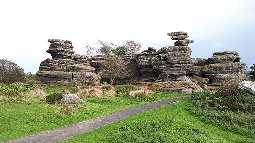 Brimham Rocks turtle and eagle