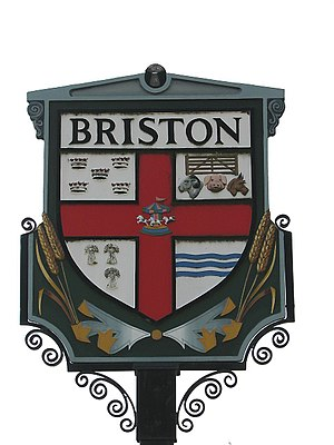 Briston - Image: Briston Village sign, Norfolk