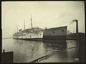 SS Britannic (1874) - Britannic laid up, just before being scrapped.