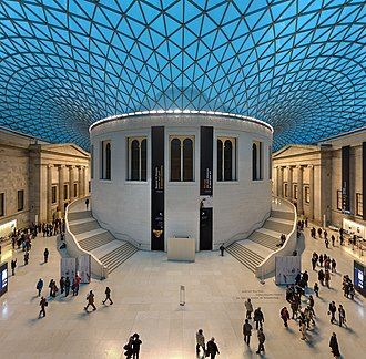 British Museum - The Great Court was developed in 2001 and surrounds the original Reading Room.