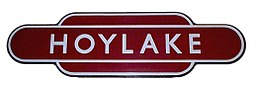 British Railways London Midland Region station totem for Hoylake.jpg