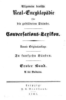 Brockhaus Real-Encyklopädie 1843 Titel