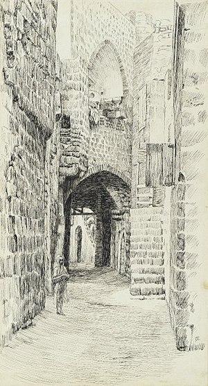 Brooklyn Museum - A Street in Jaffa - James Tissot